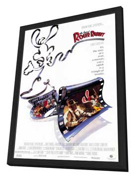 Who Framed Roger Rabbit - 11 x 17 Movie Poster - Style A - in Deluxe Wood Frame