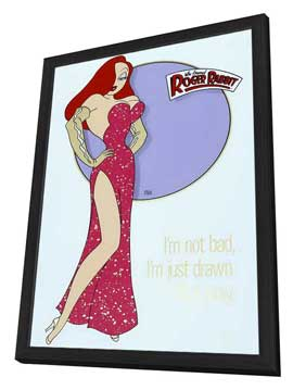Who Framed Roger Rabbit - 27 x 40 Movie Poster - Style D - in Deluxe Wood Frame