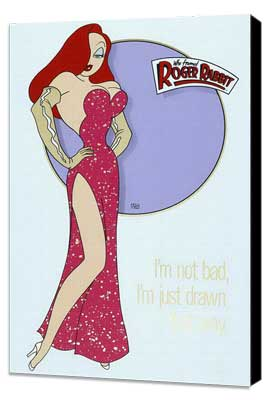 Who Framed Roger Rabbit - 27 x 40 Movie Poster - Style D - Museum Wrapped Canvas