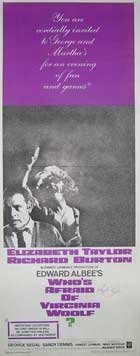 Who's Afraid of Virginia Woolf? - 14 x 36 Movie Poster - Insert Style A