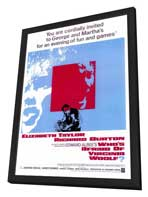 Who's Afraid of Virginia Woolf? - 27 x 40 Movie Poster - Style A - in Deluxe Wood Frame