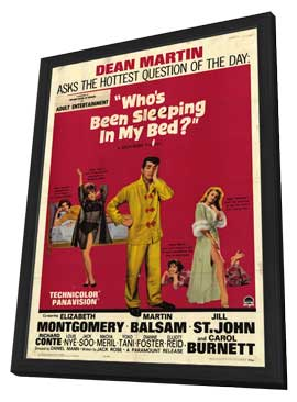 Who's Been Sleeping in My Bed - 11 x 17 Movie Poster - Style A - in Deluxe Wood Frame