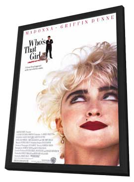 Who's That Girl? - 11 x 17 Movie Poster - Style A - in Deluxe Wood Frame