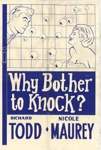 Why Bother to Knock - 11 x 17 Movie Poster - Style A
