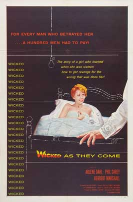 Wicked as They Come - 27 x 40 Movie Poster - Style B