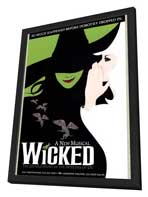Wicked (Broadway) - 11 x 17 Poster - Style A - in Deluxe Wood Frame
