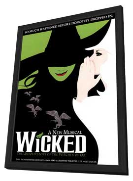 Wicked (Broadway) - 14 x 22 Poster - Style A - in Deluxe Wood Frame