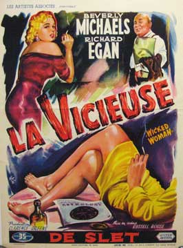 Wicked Woman - 27 x 40 Movie Poster - Belgian Style A