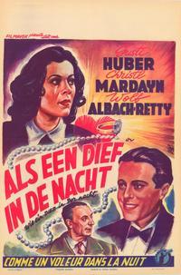 Wie ein Dieb in der Nacht - 27 x 40 Movie Poster - Belgian Style A
