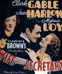 Wife vs. Secretary - 27 x 40 Movie Poster - Style B