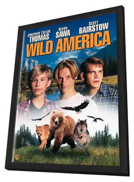 Wild America - 11 x 17 Movie Poster - Style B - in Deluxe Wood Frame