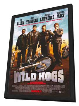 Wild Hogs - 11 x 17 Movie Poster - Style A - in Deluxe Wood Frame