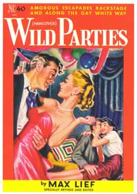 Wild Parties - 11 x 17 Retro Book Cover Poster