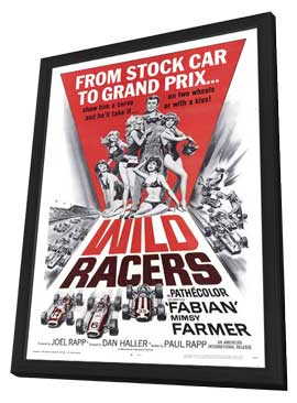 Wild Racers - 11 x 17 Movie Poster - Style A - in Deluxe Wood Frame