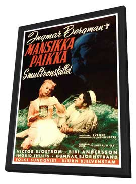 Wild Strawberries - 11 x 17 Movie Poster - Swedish Style B - in Deluxe Wood Frame