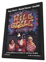 Wild Style - 11 x 17 Movie Poster - German Style A - in Deluxe Wood Frame