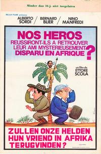 Will Our Heroes Be Able to Find Their Friend Who Has Mysteriously Disappeared in Africa? - 11 x 17 Movie Poster - Belgian Style A