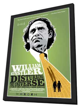 William Kunstler: Disturbing the Universe - 11 x 17 Movie Poster - Style A - in Deluxe Wood Frame