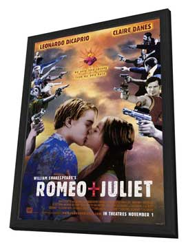 William Shakespeare's Romeo and Juliet - 27 x 40 Movie Poster - Style C - in Deluxe Wood Frame