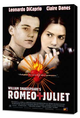 William Shakespeare's Romeo and Juliet - 27 x 40 Movie Poster - Style B - Museum Wrapped Canvas