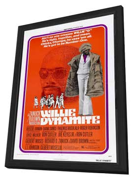 Willie Dynamite - 27 x 40 Movie Poster - Style A - in Deluxe Wood Frame