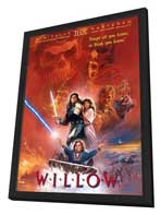 Willow - 27 x 40 Movie Poster - Style D - in Deluxe Wood Frame