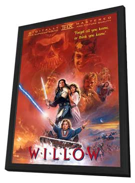 Willow - 11 x 17 Movie Poster - Style D - in Deluxe Wood Frame