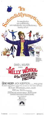 Willy Wonka & the Chocolate Factory - 14 x 36 Movie Poster - Insert Style A