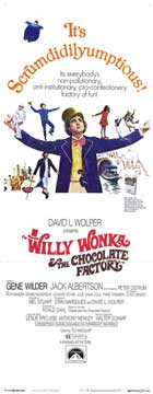 Willy Wonka & the Chocolate Factory - 14 x 36 Movie Poster - Insert Style B