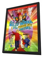 Willy Wonka & the Chocolate Factory - 27 x 40 Movie Poster - Style D - in Deluxe Wood Frame
