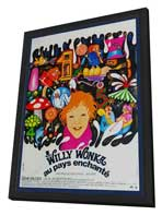 Willy Wonka & the Chocolate Factory - 27 x 40 Movie Poster - French Style B - in Deluxe Wood Frame