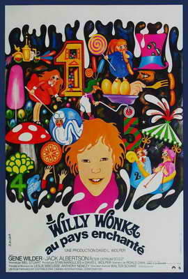 Willy Wonka & the Chocolate Factory - 27 x 40 Movie Poster - French Style B