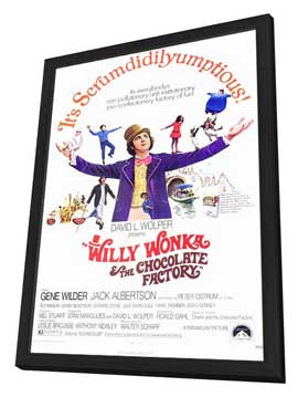 Willy Wonka & the Chocolate Factory - 11 x 17 Movie Poster - Style A - in Deluxe Wood Frame