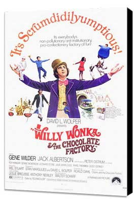 Willy Wonka & the Chocolate Factory - 11 x 17 Movie Poster - Style A - Museum Wrapped Canvas