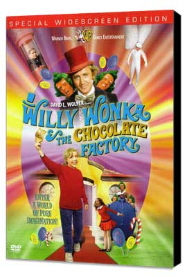 Willy Wonka & the Chocolate Factory - 27 x 40 Movie Poster - Style D - Museum Wrapped Canvas