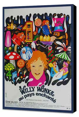 Willy Wonka & the Chocolate Factory - 27 x 40 Movie Poster - French Style B - Museum Wrapped Canvas