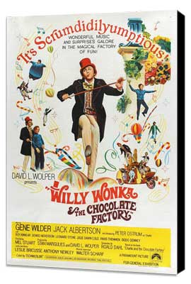 Willy Wonka & the Chocolate Factory - 27 x 40 Movie Poster - Australian Style A - Museum Wrapped Canvas