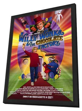 Willy Wonka and the Chocolate Factory - 11 x 17 Movie Poster - Style A - in Deluxe Wood Frame