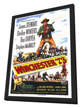 Winchester '73 - 27 x 40 Movie Poster - Style A - in Deluxe Wood Frame