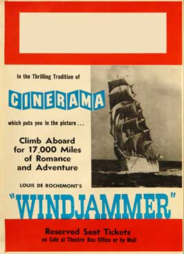 Windjammer: The Voyage of the Christian Radich - 27 x 40 Movie Poster - Style A