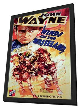 Winds of the Wasteland - 11 x 17 Movie Poster - Style B - in Deluxe Wood Frame