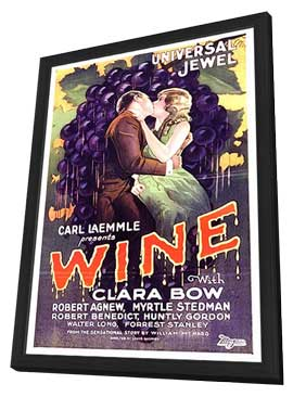 Wine - 11 x 17 Movie Poster - Style C - in Deluxe Wood Frame