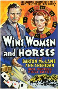 Wine, Women and Horses - 27 x 40 Movie Poster - Style A