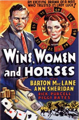 Wine, Women and Horses - 11 x 17 Movie Poster - Style B