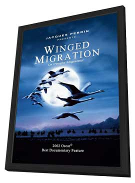 Winged Migration - 27 x 40 Movie Poster - Style C - in Deluxe Wood Frame