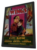 Wings - 27 x 40 Movie Poster - Style C - in Deluxe Wood Frame