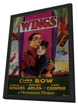 Wings - 11 x 17 Movie Poster - Style D - in Deluxe Wood Frame