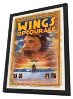 Wings of Courage - 27 x 40 Movie Poster - Style A - in Deluxe Wood Frame