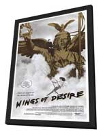 Wings of Desire - 27 x 40 Movie Poster - Style A - in Deluxe Wood Frame