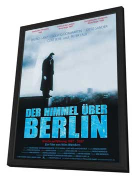 Wings of Desire - 11 x 17 Movie Poster - German Style A - in Deluxe Wood Frame